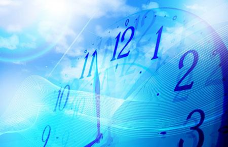 歴史の流れを表す時計
