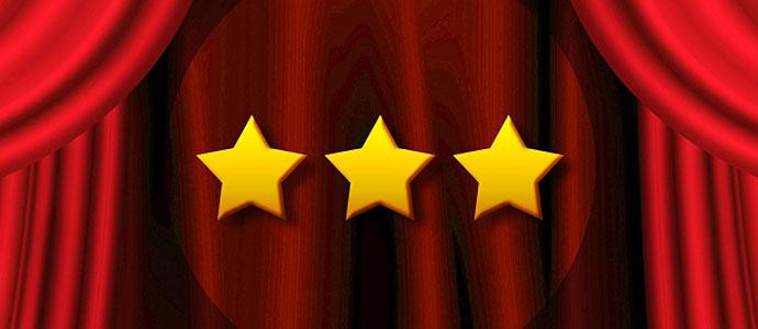 評価を表す星3つ